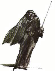 Photo: An early drawing of Darth Vader