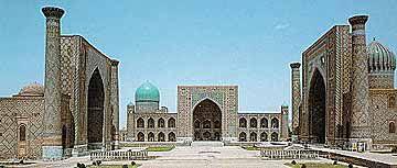 Photo of Samarqand. Courtesy Cyber Uzbekistan