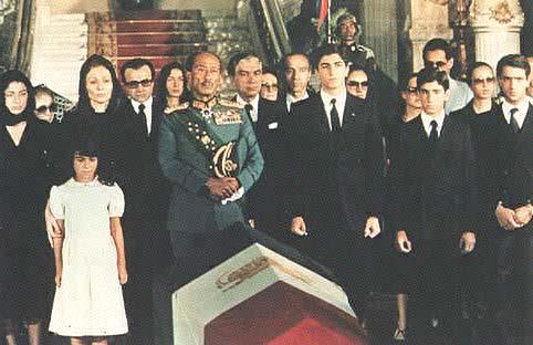 Dinastía Pahlavi de Irán. Funeral