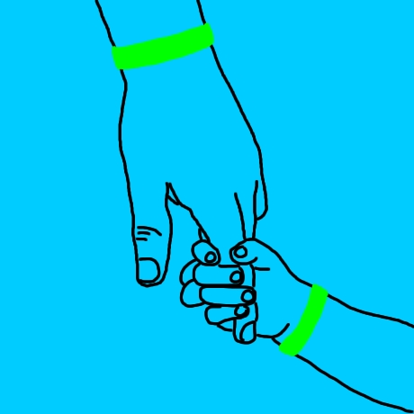 Cartoon: Writing Young Love, Holding Hands. Cartoon: Writing Young Love,