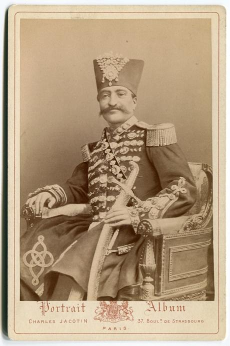 ROYALTY: Nasser al-Din Shah photographed In Full Regalia (mid 1800's)